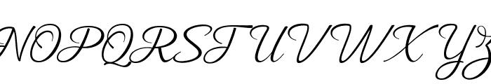 MuangthaiScript Font UPPERCASE