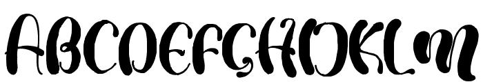 MulanCute Font UPPERCASE