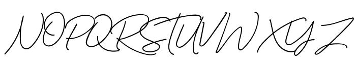 MurphyScript Font UPPERCASE