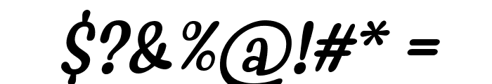 Myfrida Italic Font OTHER CHARS