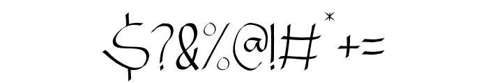 NINJA WARRIOR Font OTHER CHARS
