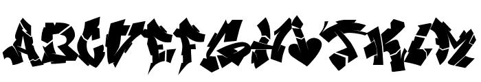 NIghtvandals Font LOWERCASE