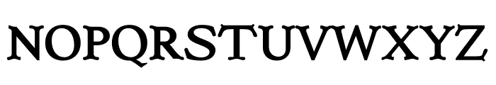 NN Camping Serif Font UPPERCASE