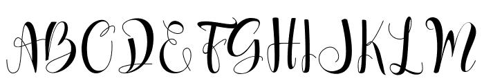 Nalisha Font UPPERCASE