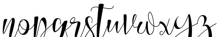 Nalisha Font LOWERCASE