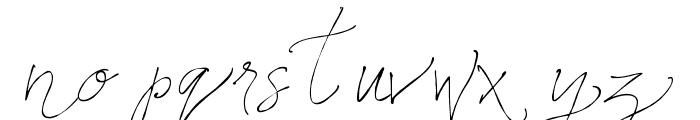 Names Regular Font LOWERCASE