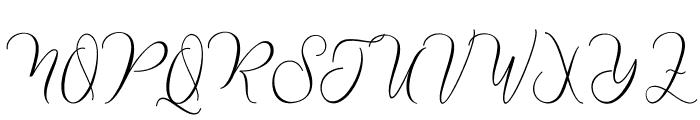 Nathalie Script Font UPPERCASE