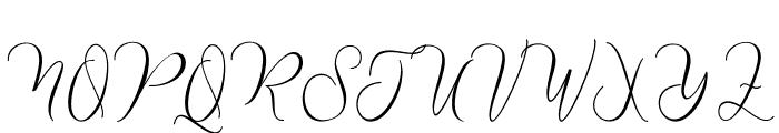 NathalieScript Font UPPERCASE
