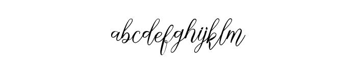 NathalieScript Font LOWERCASE