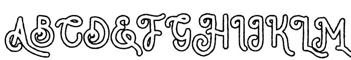 NativeMilesType Outline Font UPPERCASE