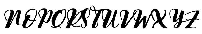 Nattizah Regular Font UPPERCASE