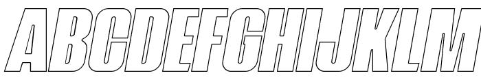 Navada Outline Italic Font UPPERCASE