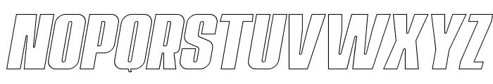 Navada Outline Italic Font LOWERCASE