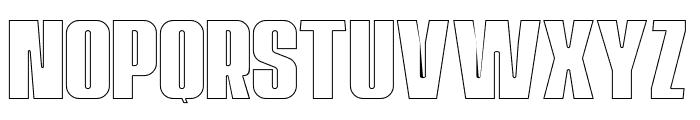 Navada Outline Font UPPERCASE