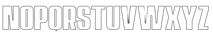 Navada Outline Font LOWERCASE