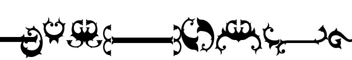 Nebenk Tail Regular Font UPPERCASE