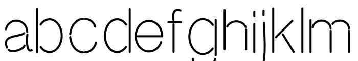 Neon Absolute Sans Font LOWERCASE