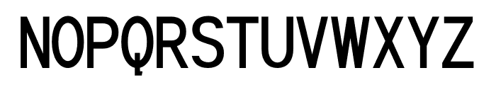 Nervousm Font UPPERCASE