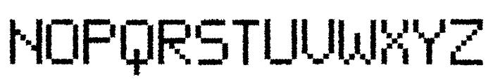 Neue Pixel Sans Distort Font UPPERCASE