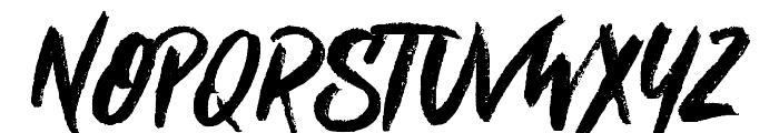 Nielsen Rough Font UPPERCASE