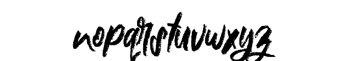 Nielsen Rough Font LOWERCASE