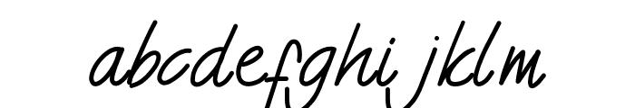NigelRegular Font LOWERCASE