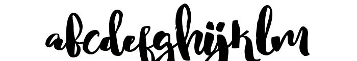 NightgirlsAlternates Font LOWERCASE