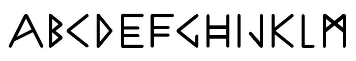 Norweg Font LOWERCASE