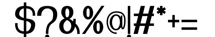 Nuevo Regular Font OTHER CHARS