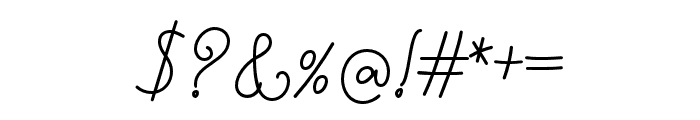 Nyckelpiga Font OTHER CHARS