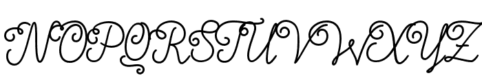 Nyckelpiga Font UPPERCASE