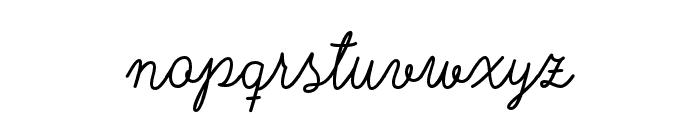 Nyckelpiga Font LOWERCASE
