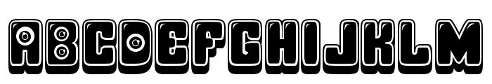 Observation Extruded Regular Font LOWERCASE