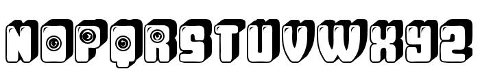 Observation Hollow 3D Regular Font UPPERCASE