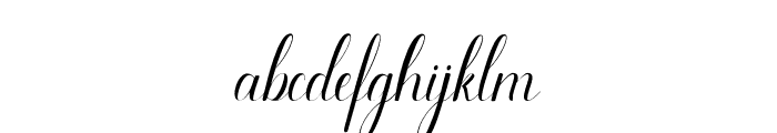 Odelina Font LOWERCASE