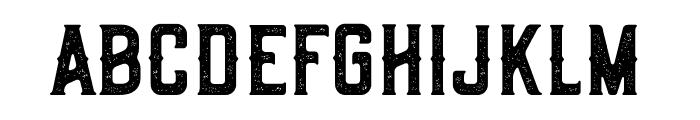Old Scotch Rusty Font LOWERCASE
