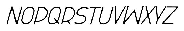Olinad Italic Font UPPERCASE