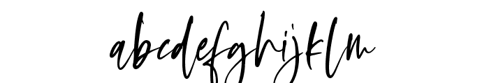 Oliver Notes Font LOWERCASE