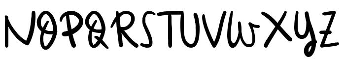 Orange Moranch Font UPPERCASE