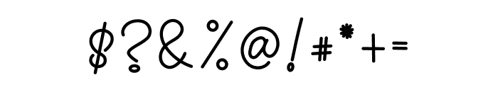 Ortisan Signature Font OTHER CHARS