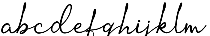 Ortisan Signature Font LOWERCASE