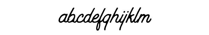 Outdoors Inks-Rough Font LOWERCASE
