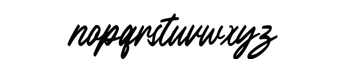 Outlander Slant Font LOWERCASE