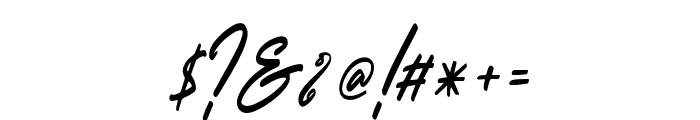 OutlanderSlant Font OTHER CHARS