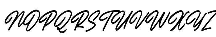 OutlanderSlant Font UPPERCASE