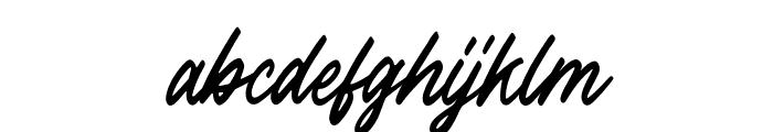 OutlanderSlant Font LOWERCASE