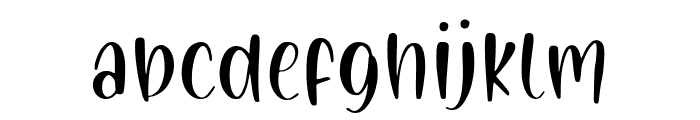 Painted Gallery Font LOWERCASE