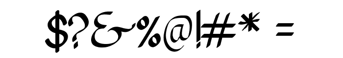 Pangrango Font OTHER CHARS