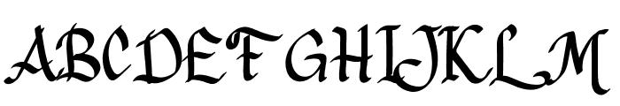 Pangrango Font UPPERCASE