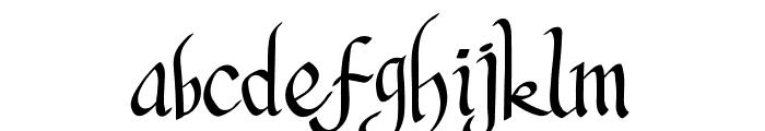Pangrango Font LOWERCASE